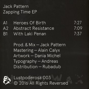 Cover art - Jack Pattern: Zapping Time EP