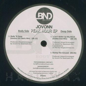 Cover art - Jovonn: Peak Hour EP