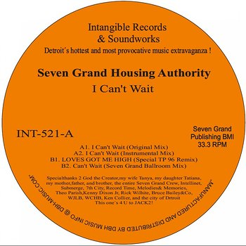 Cover art - Seven Grand Housing Authority: I Can't Wait