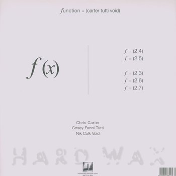 Cover art - Carter Tutti Void: f(x)