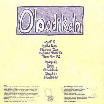 Cover art - Obadikah: Obadikah