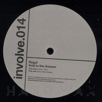 Cover art - Regal: Acid Is The Answer