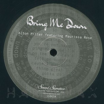 Cover art - Alton Miller: Bring Me Down