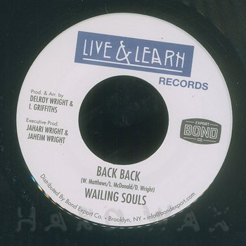 Cover art - Wailing Souls: Back Back