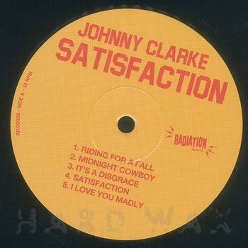Cover art - Johnny Clarke: Satisfaction