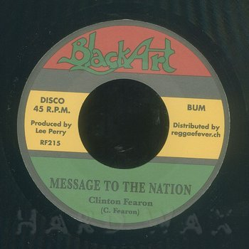 Cover art - Clinton Fearon: Message To The Nation