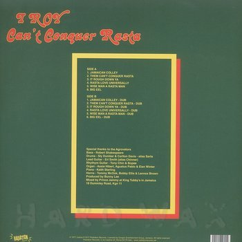 Cover art - I Roy: Can't Conquer Rasta