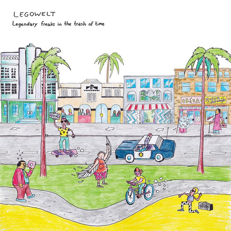 Cover art - Legowelt: Legendary Freaks In The Trash Of Time