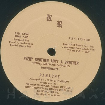 Cover art - Panache: Every Brother Ain't A Brother