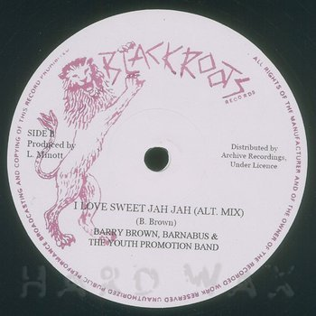 Cover art - Barry Brown: I Love Sweet Jah Jah