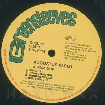 Cover art - Augustus Pablo: Africa Must Be Free By 1983 Dub