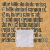 Cover art - Talker: Battle Standards Remixes