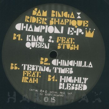 Cover art - Sam Binga & Rider Shafique: Champion