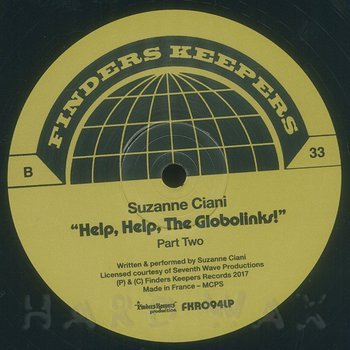 Cover art - Suzanne Ciani: Help, Help, The Globolinks!
