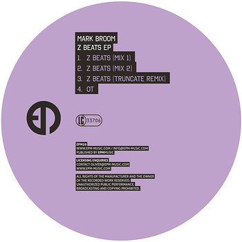 Cover art - Mark Broom: Z Beats