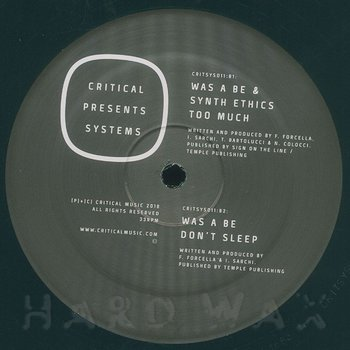 Cover art - Was A Be & Synth Ethics: Resolute