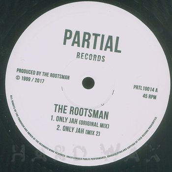Cover art - The Rootsman: Only Jah