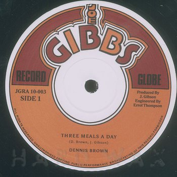 Cover art - Dennis Brown: Three Meals A Day