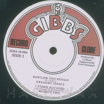 Cover art - Gregory Isaacs: Babylon Too Rough