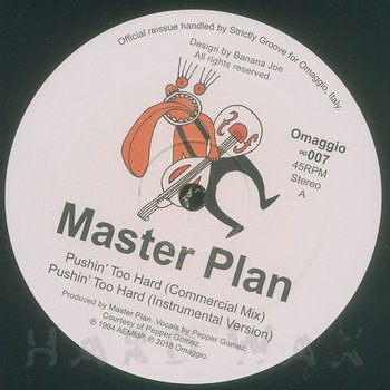 Cover art - Master Plan: Pushin' Too Hard