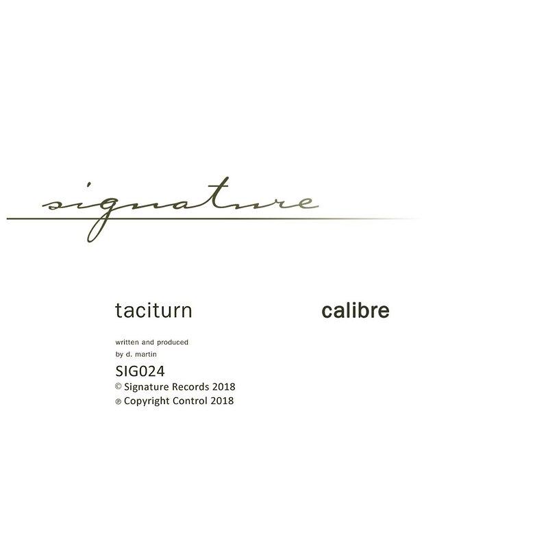 Cover art - Calibre: Taciturn