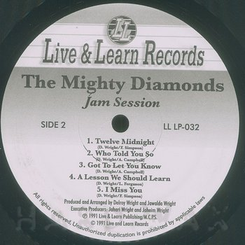 Cover art - Mighty Diamonds: Jam Session