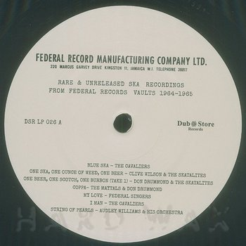 Cover art - Various Artists: Rare & Unreleased Ska Recordings from Federal Records Vaults 1964-1965