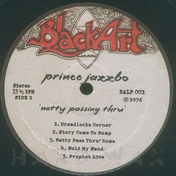 Cover art - Prince Jazzbo: Natty Passing Thru'