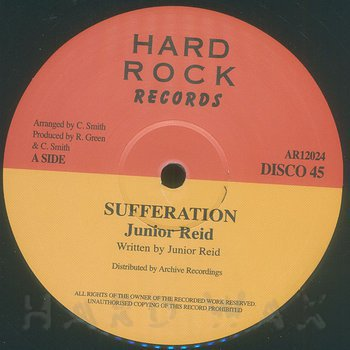Cover art - Junior Reid: Sufferation