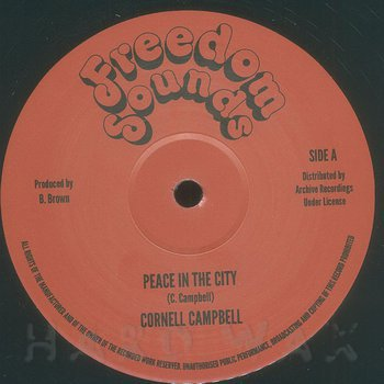Cover art - Cornell Campbell: Peace In The City