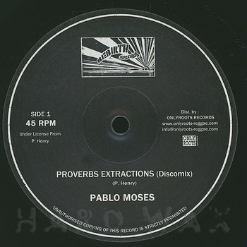 Cover art - Pablo Moses: Proverbs Extractions