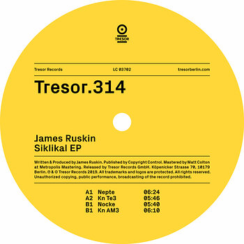 Cover art - James Ruskin: Siklikal EP