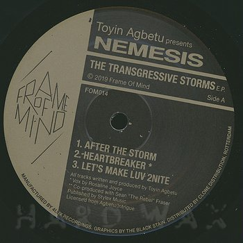 Cover art - Toyin Agbetu presents Nemesis: The Transgressive Storms EP