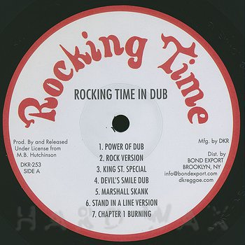 Cover art - Billy Hutchinson, King Tubby & Friends: Rocking Time In Dub