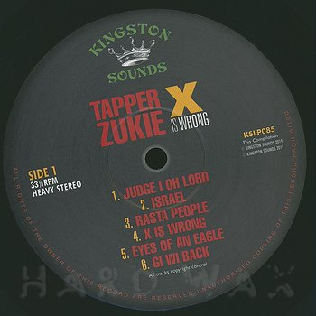 Cover art - Tappa Zukie: X Is Wrong