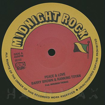 Cover art - Barry Brown: Peace & Love