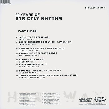 Cover art - Various Artists: 30 Years Of Strictly Rhythm - Part Three