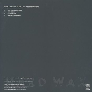Cover art - Shdw & Obscure Shape: Der Weg des Kriegers