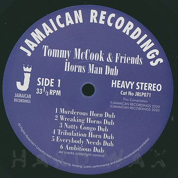 Cover art - Tommy McCook & Friends: Horns Man Dub