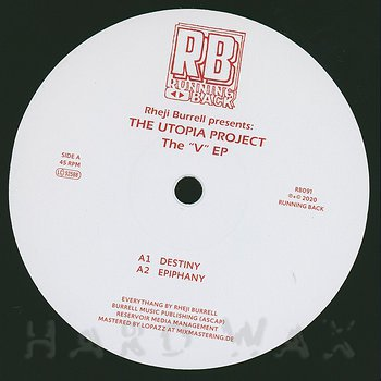 Cover art - Rheji Burrell Presents The Utopia Project: The 'V' EP