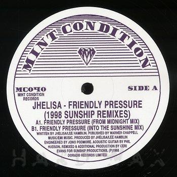 Cover art - Jhelisa: Friendly Pressure (1998 Sunship Remixes)