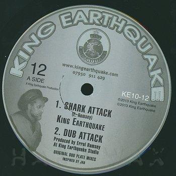 Cover art - King Earthquake: Shark Attack / Torture The Devil