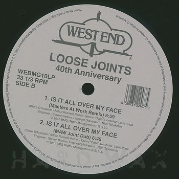 Cover art - Loose Joints: Is It All Over My Face (40th Anniversary)