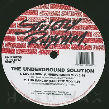 Cover art - The Underground Solution: Luv Dancin' (30th Anniversary)