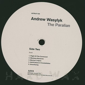 Cover art - Andrew Wasylyk: The Paralian