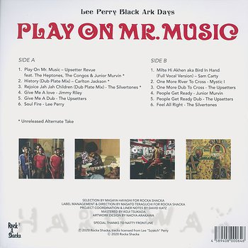 Cover art - Lee Perry: Play On Mr. Music