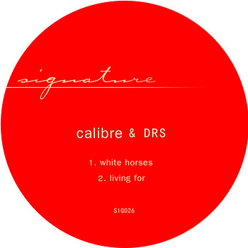 Cover art - Calibre & DRS: Whitehorses / Living For