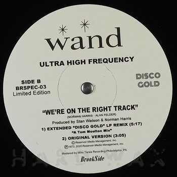Cover art - Ultra High Frequency: We're On The Right Track